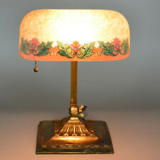 Emeralite Reverse Painted Acid Etched 8734 Shade, Desk Lamp