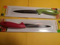 """LOT 131 Two  9-Inch Filet Knives - Lot of 2 Sharp Knives - PLUS FREE 5"""" FORCEPS!"""