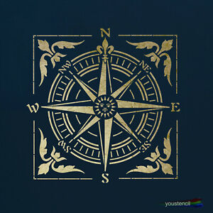 Victorian Compass Stencil, for Walls Art and Furniture. ST61