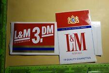 Alter Aufkleber Tabak Zigaretten L & M   L&M 19 Cigarettes 3,- DM
