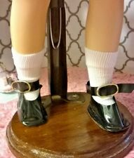 "1960's BLACK SHOES & WHITE SOCKS fit 14"" SWEET SUE or 1 1/2"" X 3/4"" DOLL FOOT"