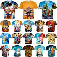 Women/Men Dragon Ball Z Goku Vegeta 3D Print Casual T-Shirt Tee Short Sleeve T20