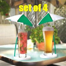 ( 4 ) Cocktail Umbrella Coaster Set - Amazing Corona beer style fun! + 1 Million