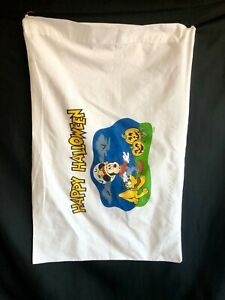 Vintage Disney Mickey Mouse Happy Halloween Standard Size Pillow Case- Treat Bag