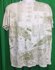 Analog Graphic T Shirt Men's Size LARGE Flight Mig 23 Ag-23s(36)