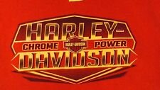 VINTAGE LARGE RED HARLEY DAVIDSON SLEEVELESS CHROME POWER CREW NECK  T SHIRT