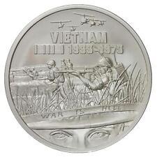 Heroes Series Sdwc War Is Hell 1 oz .999 Silver Bu Round Usa Vietnam War Coin