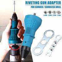 Electric Rivet Nut Gun Adapter Cordless Riveting Insert Nut Power Drill Tool Kit