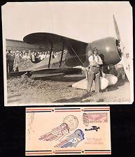 1931 JIMMY DOOLITTLE BENDIX RACE WINNER SIGNED COVER& LAIRD SUPER SOLUTION PHOTO