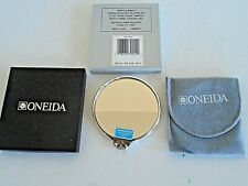 Oneida Silverplate Pocket Mirror Ropes & Bows Pattern~New in Box w/Bag