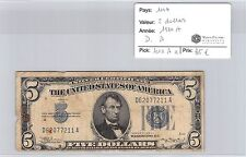 BILLET USA - 5 DOLLARS 1934 A - D.A