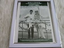 James bond 007 Collection Movie poster Tony nourman Framed bollinger view to kil