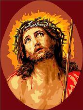 Stickpackung Stickbild Gobelin JESUS CHRISTUS 42 x 32 cm sticken Handarbeiten