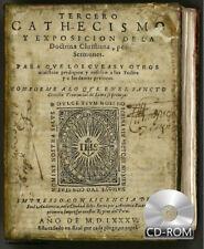 Tercero cathecismo y exposición de la Doctrina Chriʃtiana 1585 1st Edition