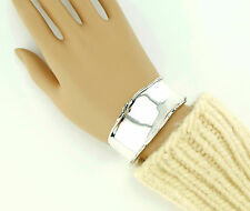 Vtg Sterling Silver Silpada Wide Oxidized Distressed Rare Cuff Bracelet B1435