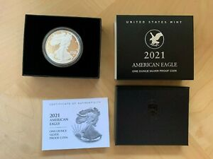 2021-W American Eagle One Ounce Silver Proof Coin (21EAN) Type 2