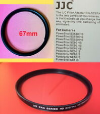 67mm ADAPTER RING +UV FILTER for CANON POWERSHOT SX40 SX30 SX20 SX10 SX1 IS 67mm