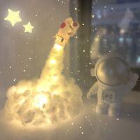 Astronaut Cloud LED Night Light Lamp Rocket Shuttle Neon Space Galaxy Kids Gift!