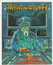 MEGADETH   mini-poster édité en 1990