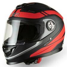 CRUIZER Casco Moto Scooter Integrale Omologato Compatto Visiera Nero Rosso