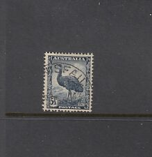 "1942 5½d Emu SG 208 ""RE-ENTRY TO TOP FRAME AT RIGHT"" BW 232h ($30), fine used."