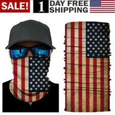 US! 3D US Flag Full Function Face Warmer Mask Neck Tube Scarf Biker Ski Bandana