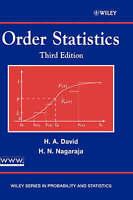Order Statistics by David, Herbert A. Nagaraja, Haikady N. (Hardback book, 2003)