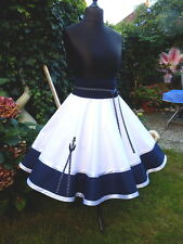 Plato danza rock square dance rock skirt 50er Petticoat rockabilly Sailor Marine