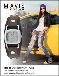 """MAVIS Damen Armbanduhr Lederband """"Used Look"""" *** UVP 49,99 €"""