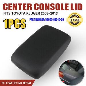 For Toyota Kluger Armrest Lid 2008 -2013 PU leather Black Centre Console