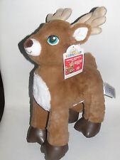 "New build a bear workshop Christmas Santas raindeer 16"" stuffed animal toy"