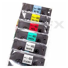 6 in 1 BROTHER COMPATIBLE TZ131 TZ231 TZ431 TZ531 TZ631 TZ731 Label Tape 12mmx8m