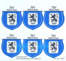 TSV 1860 München Aufkleber Sticker 6 Logos Wappen Bundesliga Fussball #553