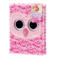 "Ty Beanie Boo Pinky Sticker Album - 9"" x 12""  - 3D Fur Cover - FREE SHIPPING"