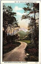 1930 Postcard Mt. Chapin From Horseshoe Park Rocky Mountain National Park Co