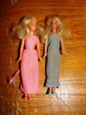 """Lot of 2 1981 Cpg C.P.G. Mini Dolls With Clothing Blondes 4"""" Tall"""