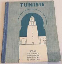 TUNISIE Atlas historique géographique économique touristique 1936