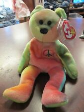 9ce5f572a1e Ty Beanie Baby Peace Bear PVC 10 Errors 4th Gen Hang   Tush Retired  Deutschland