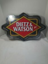 Dietz & Watson Neon Light Advertising Deli Sign 25' x 16' For Parts Or Repair