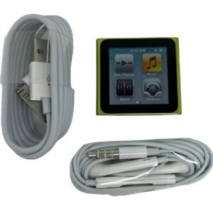 Apple iPod Nano 6th Generation 16GB Green , Excellent , 1 Year Warranty
