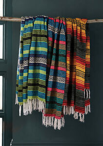 Recycled Cotton Stripe Throws