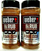 2 Pack Weber Spicy Dark Cocoa Dry Rub For Smoking & Barbecuing 12.75 oz (x2)