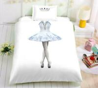 3D Ballet Princess Dress Crown KEP2494 Bed Pillowcases Quilt Duvet Cover Kay