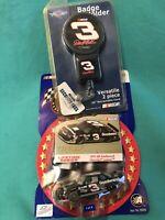 2002 NASCAR Winners Circle Lifetime Series Dale Earnhardt car & Badge Holder.