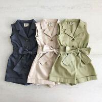 AU Toddler Kids Baby Girl Clothes Romper Jumpsuit Playsuit Outfits Sunsuit 1-6Y
