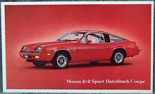 POST CARD ~ 1979 MONZA 2+2 ~ ORIGINAL