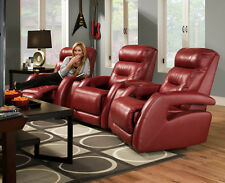 American Made Vivid Home Theater Seating - 4 Seats In Top Grain Leather