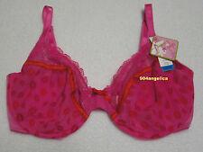 Jasmine&Ginger Love Safari Lips Underwire Bra 36DDD NWT