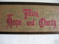 victorian punchedpaper motto Faith, Hope & Charity, kit