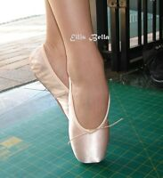 Ellis Bella Satin ballet pointe shoes 3/4 Shank.